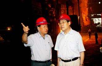 中国钢铁工业协会副秘书长戚向东来公司视察