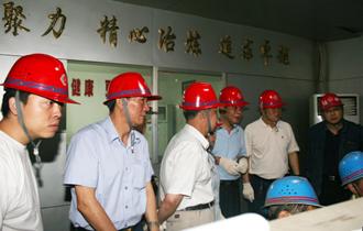中国钢铁工业协会党委书记刘振江来公司视察