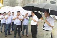渭南市市长奚正平(右二)来公司检查指导