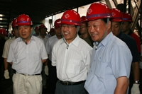 吴登昌副省长视察公司炼铁系统建设情况